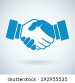 handshake icon  | Shutterstock .eps vector #192955535