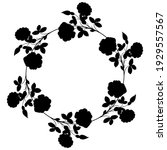 round floral frame. wreath of... | Shutterstock .eps vector #1929557567