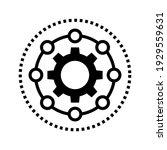 framework icon. gear vector...   Shutterstock .eps vector #1929559631