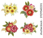 flowers set. collection of... | Shutterstock .eps vector #1929560231
