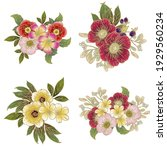 flowers set. collection of... | Shutterstock .eps vector #1929560234