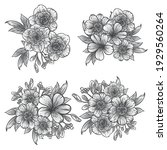 flowers set. collection of... | Shutterstock .eps vector #1929560264