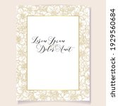 invitation greeting card with... | Shutterstock .eps vector #1929560684