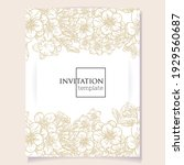 invitation greeting card with... | Shutterstock .eps vector #1929560687
