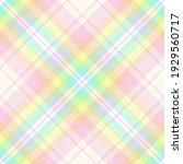 rainbow diagonal tartan....   Shutterstock .eps vector #1929560717