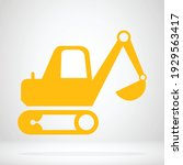 escavator icon for logo... | Shutterstock .eps vector #1929563417