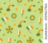 saint patrick s day seamless... | Shutterstock .eps vector #1929617561