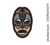 maori or samoan style mask.... | Shutterstock .eps vector #1929624374