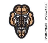samoan style mask. polynesian... | Shutterstock .eps vector #1929625211