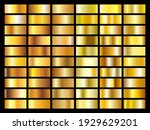 set of gold foil texture... | Shutterstock .eps vector #1929629201