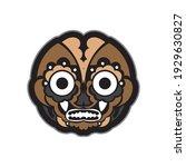 maori or samoan style mask.... | Shutterstock .eps vector #1929630827