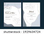 vintage wedding invitation card ... | Shutterstock .eps vector #1929634724