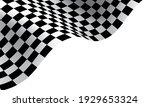 checkered flag wave on white... | Shutterstock .eps vector #1929653324