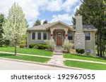 craftsman style suburban home | Shutterstock . vector #192967055