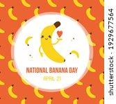 national banana day vector card ...   Shutterstock .eps vector #1929677564