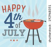 happy 4th of july bbq grill... | Shutterstock .eps vector #192968351