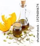 Pumpkin Oil In A Jar And Carafe ...