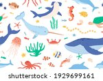 childish seamless pattern with...   Shutterstock .eps vector #1929699161