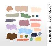 colored paintbrush  brush... | Shutterstock .eps vector #1929732077