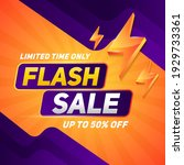 flash sale square banner for... | Shutterstock .eps vector #1929733361