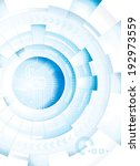 abstract technology blue white... | Shutterstock .eps vector #192973559