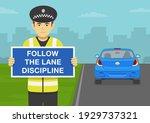 driving car. traffic regulation.... | Shutterstock .eps vector #1929737321