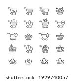 pack of vector icons with... | Shutterstock . vector #1929740057