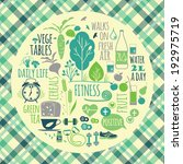 healthy lifestyle background | Shutterstock .eps vector #192975719