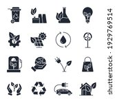 set of ecology environmental... | Shutterstock .eps vector #1929769514