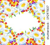 the frame flower. square. jpg ... | Shutterstock . vector #19297837
