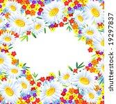 the frame flower. square. jpg ...   Shutterstock . vector #19297837