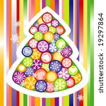 decorated christmas tree | Shutterstock .eps vector #19297864