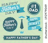 Happy Father's Day Vector Element Set - Ribbons and Labels
