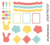 cute paper notes in sweet color ... | Shutterstock .eps vector #1929795737