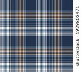 plaid pattern abstract in blue  ... | Shutterstock .eps vector #1929803471