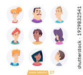 cheerful young people avatar... | Shutterstock .eps vector #1929832541