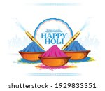 holi celebration illustration... | Shutterstock .eps vector #1929833351