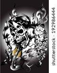 skulls ans snake   Shutterstock . vector #192986444