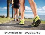 running fitness couple workout... | Shutterstock . vector #192986759
