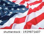 Usa flag  close up. studio shot