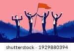 teamwork happiness   group of... | Shutterstock .eps vector #1929880394