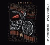 custom motorcycle colorful... | Shutterstock .eps vector #1929890534