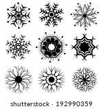 vector of snow icon