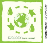 flat cycle eco infographic...   Shutterstock .eps vector #192990629