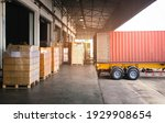 Cargo Container  Trailer Truck...