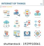 internet of things icon set... | Shutterstock .eps vector #1929910061