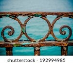 Vintage Rusty Railings By The...