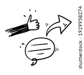 hand drawn doodle thumb up...   Shutterstock .eps vector #1929958274