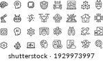 artificial intelligence icons... | Shutterstock .eps vector #1929973997