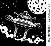 mars exploration retro poster...   Shutterstock .eps vector #1930011434